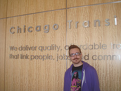 Harper Reed at the Chicago Transit Authority lobby